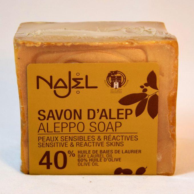 sapone di Aleppo al 40 % di olio di alloro