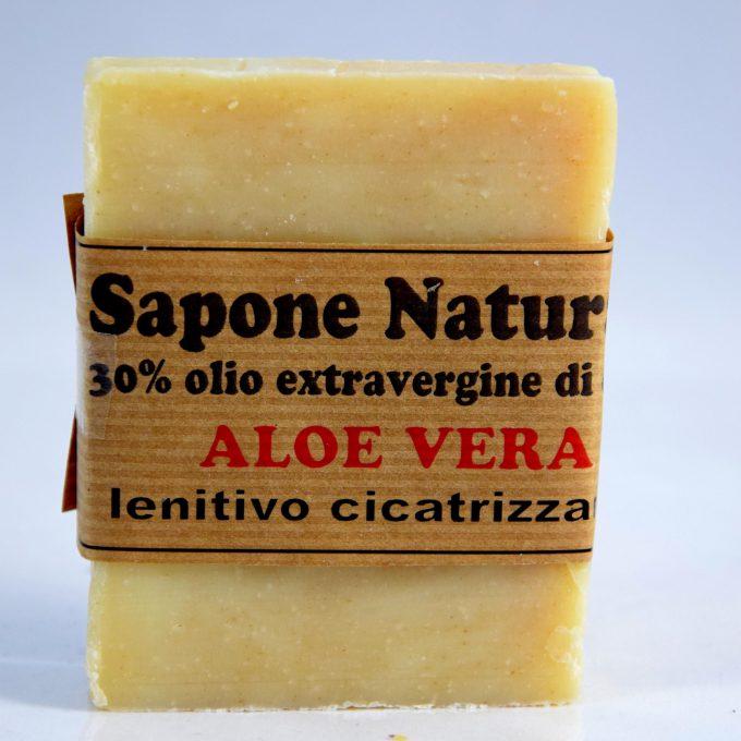 Sapone con olio extravergine di oliva e aloe vera