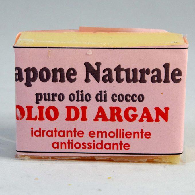 sapone puro olio di cocco emolliente con olio di argan