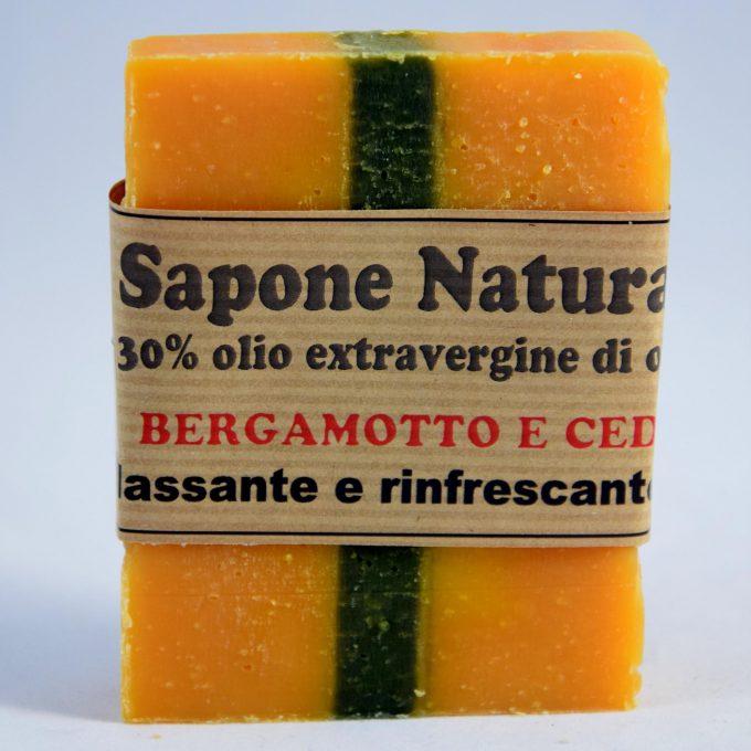 sapone olio extravergine di oliva e con oli essenziali di bergamotto e cedro