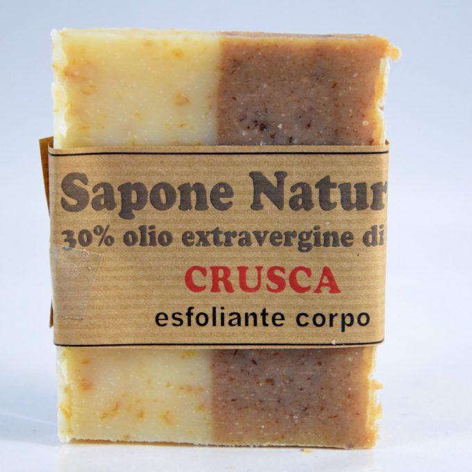 sapone con olio extravergine di oliva alla crusca esfoliante