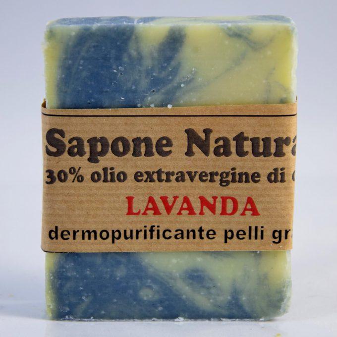 sapone con olio extravergine e lavanda