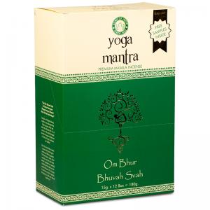 L' incenso masala premium yoga mantra è arrotolato a mano unendo spezie, erbe, estratti floreali, oli esotici.